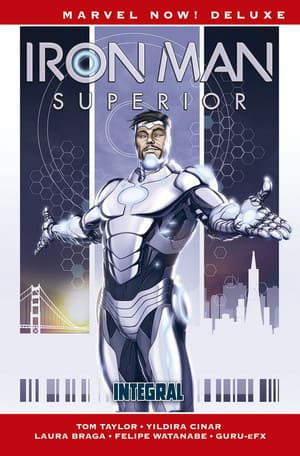Portada Iron Man Superior Integral Marvel Now! Deluxe de Panini Cómics