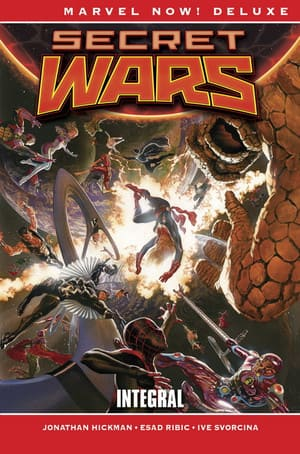 Portada Secret Wars: Integral Marvel Now! Deluxe de Panini Cómics
